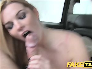 fake taxi giant all-natural baps on blonde model