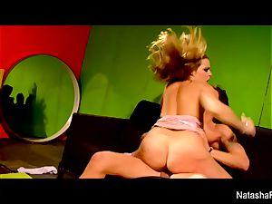 uber-sexy dark haired Natasha receives a gash ravaging
