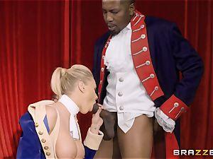 multiracial labia smash on stage with Katie Morgan