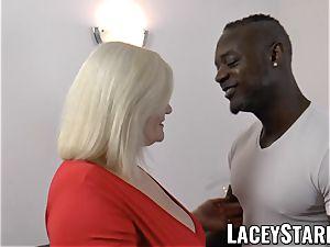 LACEYSTARR - granny anally creampied with big black cock