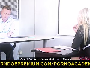 porn ACADEMIE - buxom Georgie Lyall romps principal
