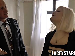 LACEYSTARR - Mature English babe pulverized and facialized