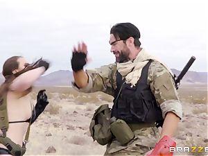 iron Gear Solid 5 anal porno parody with mischievous dark-haired Casey Calvert