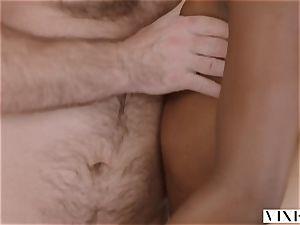 VIXEN Riley Reid has intense 3 way with Ana Foxxx and boyfriend