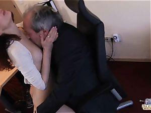 I am a secretary seducing my boss at work office