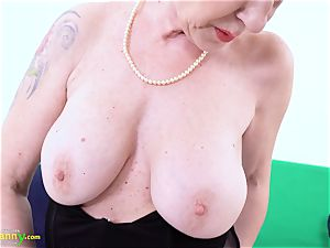 OldNannY Lusty grandmother Milena Solo playing Showoff