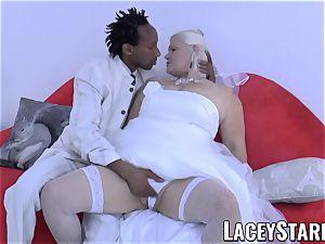LACEYSTARR - grandma bride fed with jizz after boinking