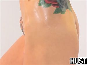 Ultimate blondie Sarah Jessie submits to thick bbc