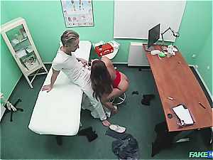 faux clinic stellar rump patient with smooth-shaven coochie