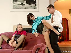 Morgan Moon with super-fucking-hot honey make love with a lusty fellow
