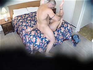 ultra-kinky Nina Elle pokes her boy at the motel