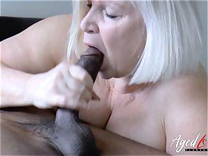 AgedLovE Lacey Starr bi-racial hard-core fuckfest