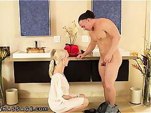 Cadence Lux offers him a Nuru massage session