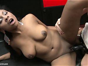 tough Kathia Nobili thrusts her string on manmeat deep down her fucking partner jaws