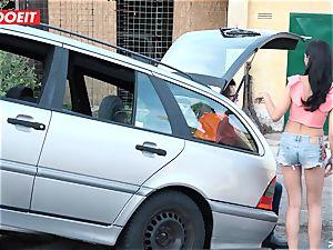 LETSDOEIT - teen porks elderly guy For Free Car Repair