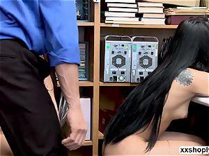 Gina Valentina and Miha Doan three ways fuckfest with LP officer