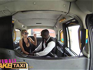 damsel faux cab scorching perspiring banging pays taxi fare