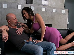 Irresistible Rachel Starr has fine boobs and pounds like a professional