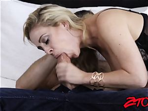 magnificent Cherie DeVille funbag pokes before getting ravaged