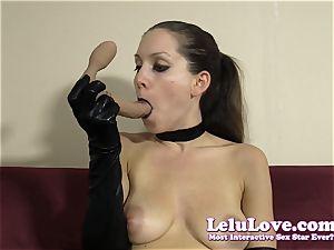 emo gal in gloves gives sloppy lip liner dt
