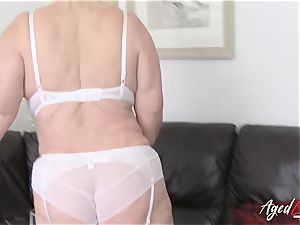 AgedLovE huge-boobed Lacey Starr hardcore and blow-job