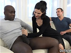 wife and Cuck chat a ebony into donk fuck-fest