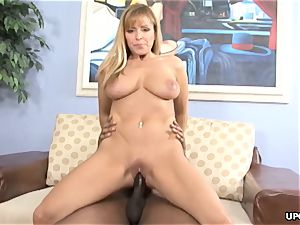 blondie big-titted cougar getting boinked with a bbc