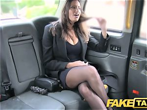 faux cab super-hot huge-chested babe gets fat jism shot
