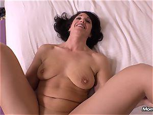innocent black-haired mummy cuckold creampie wish