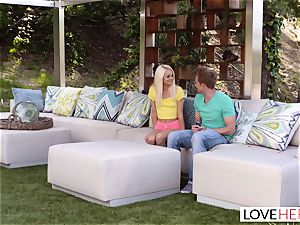 LoveHerFeet - super-hot blonde Gives a hot sole boink