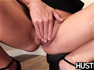 sexy India Summers sploogs after chomping down big black cock