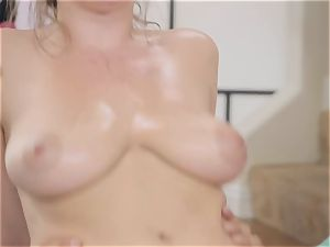 Danny glides his fuck-stick into the bootie of yoga honey Lena Paul