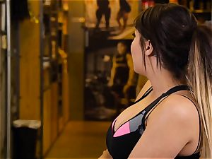 asian hotty London Keyes romps her fellow after a exercise