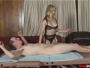 client Shocks To watch The cool blondie masseuse