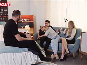 LETSDOEIT - ultra-kinky platinum-blonde Gets Gelp To jizm From couple