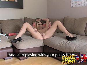 FakeAgentUK climaxes anal hump and unloading in interview