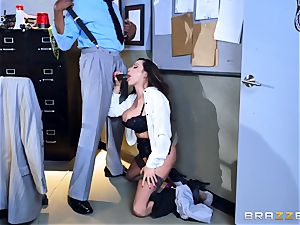 super-naughty office fun with Ariella Ferrera