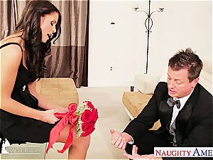 big-titted dark-haired Whitney Westgate riding hard-on at wedding