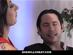 SheWillCheat - biotch wife backside ravaged by buddy