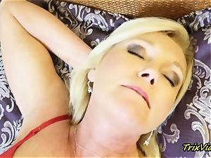 mummy masturbation and Toe deep-throating orgasms with Ms Paris