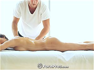 elegant Chloe Amour touched and satiated well