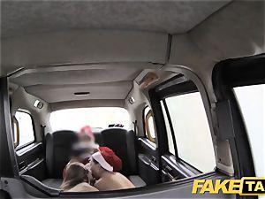 fake cab Xmas theme sensational santa buttfuck plumbs two elves