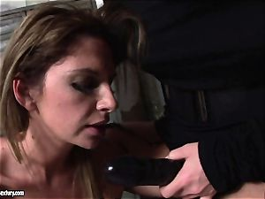 Kathia Nobili lets a molten damsel blow her cable on