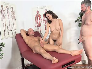 Jade Nile Has Her spouse suck jizz-shotgun and observe Her