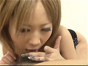 Ai Shirosakia penetrated hard and made to swallow huge time