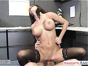 brilliant Peta Jensen super-naughty for his phat fuck-stick at the office