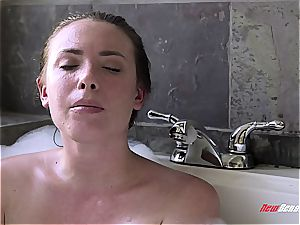 warm sisters penetrating in the bath