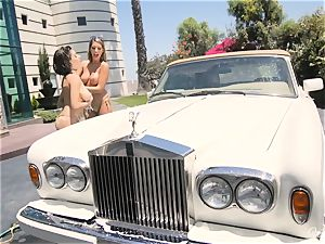 August Ames and Darcie Dolce get their asses bubbly