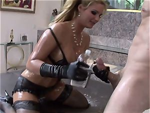 Phoenix Marie get her bod packed with lubricant